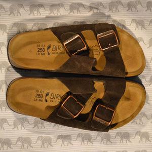 Birkenstock Birko 39 L8 M6 250 Mocha Shoes EUC